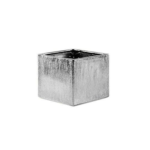Ceramic Etched Vases - WGV Ceramic Etched Cube Square Vase, 6
