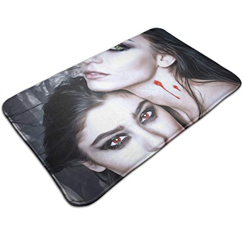 DIDIDI Halloween Vampire Fantasy Girl Blood Gothic Goth Throw Area Ground Mat Accent Floor Carpet Outside Door Set Decor Welcome Entryway Rug Sign Celebrate Decorations -