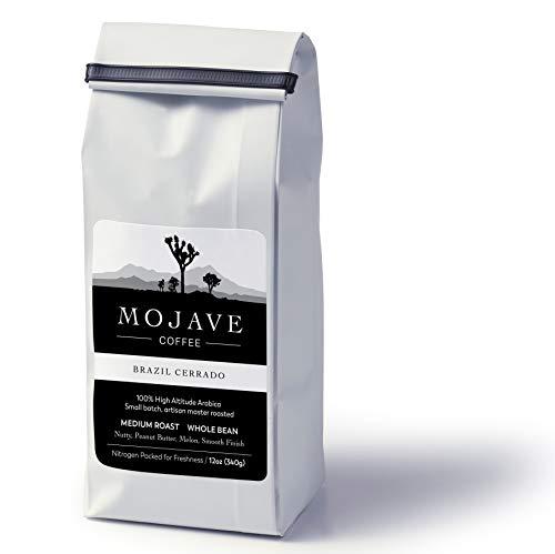 Mojave Coffee Brazil Cerrado, Single-Origin, Small-Batch, Fresh Roasted, 100% High-Altitude Premium Arabica, Medium Roast 12oz (Whole - Brazil Fresh Coffee