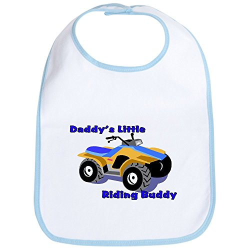 CafePress - Daddy's Little Riding Buddy Bib - Cute Cloth Baby Bib, Toddler Bib