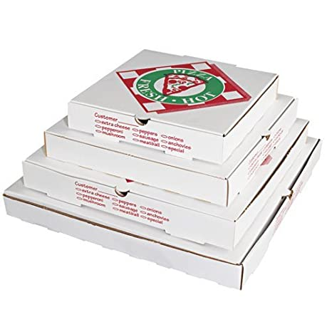 Smurfit Stone PZCORE10 10 Pizza Box E Flute WH KR Case Of 50 By