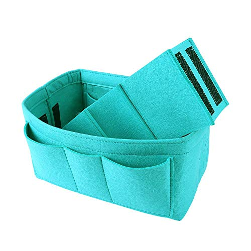 Felt Purse & Bag in Bag Organizer Insert/Multi-Pocket Handbag Shaper-Fit LV Speedy Neverfull Longchamp Tote(M/Tiffany -