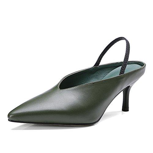 Nine SevenSandals - Zapatos con correa de tobillo mujer Verde