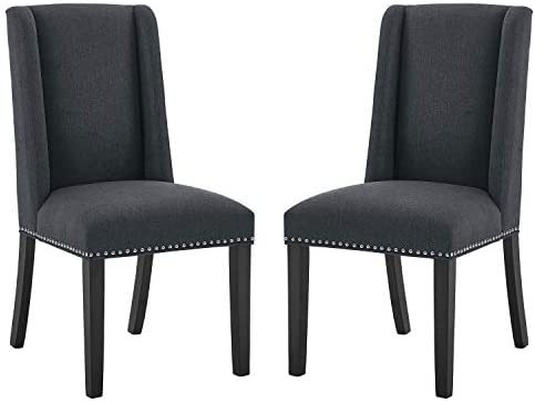 Upholstered Dining Room Chairs Set of 4 High Back Accent Living Chairs Heavy Duty Side Chair