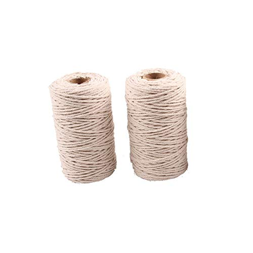 Junxia Natural Cotton Twisted Rope Beige Color 100M Length 2MM Thickness