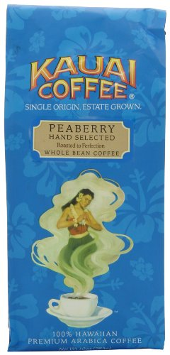 Kauai Coffee, Peaberry Whole Bean, 10 Ounce