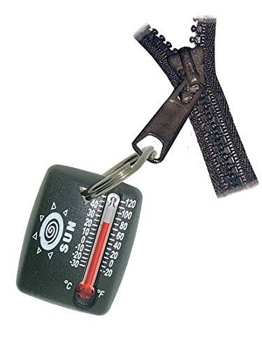 Sun Company ZipperSnapper - Micro Zipper/Keyring Thermometer | Mini Outdoor Zipperpull Thermometer