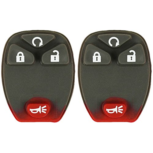 QualityKeylessPlus TWO Replacement 4 Button Remote Start Rubber Pads for GM Key Fob with FCC OUC60270 FREE KEYTAG