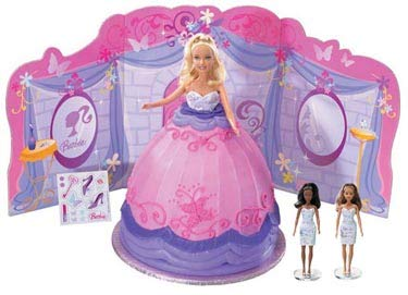 DecoPac Printed Screen Barbie Butterfly Wishes Cake Kit (Barbie Not Included)