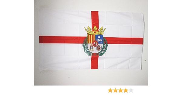 AZ FLAG Bandera de la Provincia DE TERUEL 150x90cm para Palo - Bandera TERUEL EN ARAGÓN 90 x 150 cm: Amazon.es: Jardín