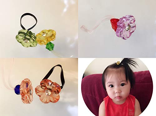 5 Count Girls Hair Ties Baby Ouchless Elastic Mini Ponytail Holders Pigtail Holder Hair Elastics Ties in Different Styles and Colors