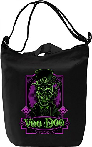 Voodoo skull Borsa Giornaliera Canvas Canvas Day Bag| 100% Premium Cotton Canvas| DTG Printing|