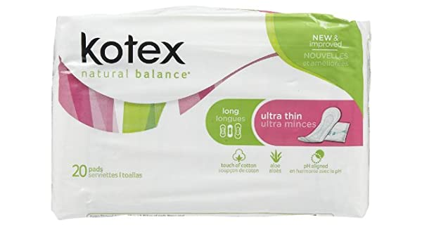 Amazon.com: Kotex Ultra Thin Maxi Pads Long for Medium Protection - 20 Pads / Pk, 12 Pack: Health & Personal Care