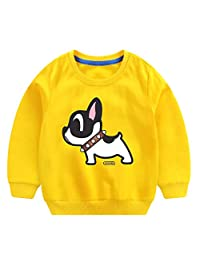 Waymine Kids Baby Tops Girl Boy Long Sleeve Cartoon Dog Print Lovely Sweatshirt