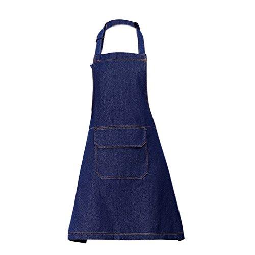 ACTLATI Fashion Denim Bib Apron with Pocket Adjustable Ne...