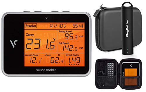 Swing Caddie SC300 Portable Launch Monitor by Voice Caddie Power