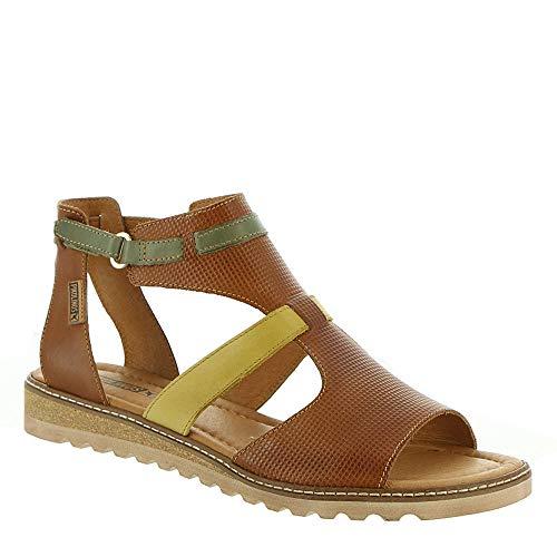 - PIKOLINOS Alcudia Hook-and-Loop Women's Sandal 37 M EU Brandy-Mustard