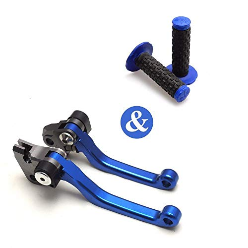 Transport-Accessories - 4 Pcs/Set CNC Pivot Motorcycle Adjustable Brake And Clutch Levers Handle Grips For Yamaha YZ125/250 250F 426F 450F For KAWASAKI