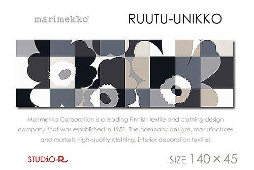 MarimekkoマリメッコRUUTU-UNIKKO(BLK)ルーツウニッコ■ファブリックパネルファブリックボード140×45cm B01LXTFI5N