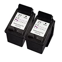 Sophia Global Remanufactured Ink Cartridge Replacement for HP 27 (2 Black)