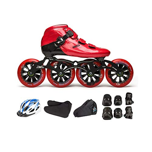 - Ailj Inline Skates, Carbon Fiber Skates 4X110MM Wheel Children's Adult Professional Single-Row Skates Full Set 3 Colors (Color : C, Size : EU 37/US 5/UK 4/JP 23.5cm)