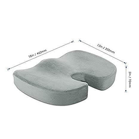 SODIAL Cojin de asiento Cojin ortopedico superior de la ...