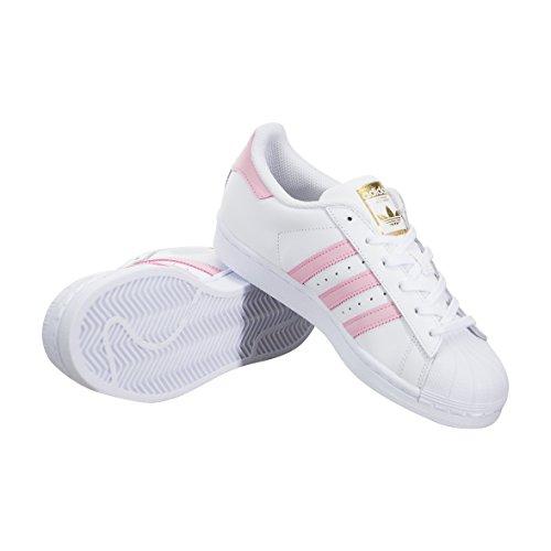 Kid's Adidas Originals Superstar J Shoes White Metallic Gold