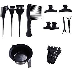 LIGONG 23 Pieces Hair Dye Coloring DIY Beauty Salon Tool Kit- Hair Tinting Bowl,Brush Comb Hairpins For Salon Barbers Professional Hair Coloring Bleaching