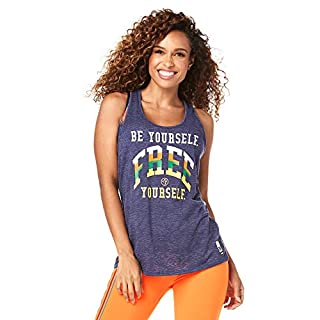Zumba Burnout Dance Workout Tops Graphic Print Fitness Tank Tops for Women