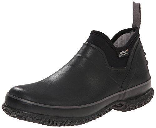Bogs Men's Urban Farmer Low Waterproof Work Rain Boot, Black, 10 D(M) US