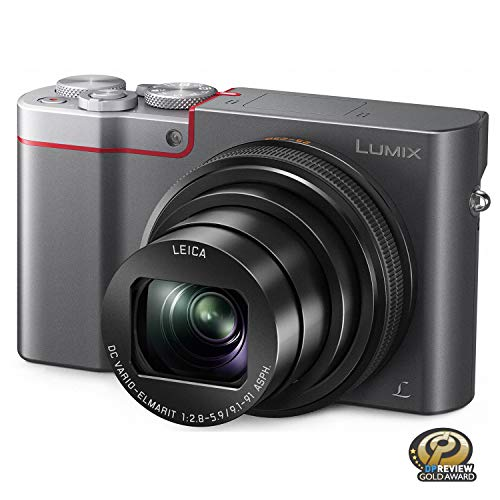 - PANASONIC LUMIX ZS100 4K Point and Shoot Camera, 10X LEICA DC Vario-ELMARIT F2.8-5.9 Lens with Hybrid O.I.S., 20.1 Megapixels, 1 Inch High Sensitivity Sensor, 3 Inch LCD, DMC-ZS100S (USA SILVER)