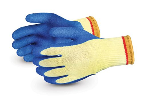 Superior S10KLX Powergrab Kevlar String Knit Glove with Latex Coated Palm, Work, Cut Resistant, 10 Gauge Thickness, Size 9 (Pack of 1 Pair) - Kevlar String Knit Glove