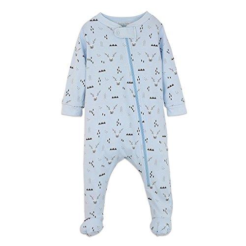 Boys Pima Cotton Zipper Footie Baby Romper (Pima Bamboo)