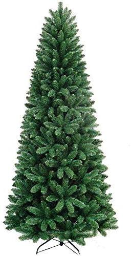 BAKAJI Albero di Natale Slim Molto Folto Nuova Versione Pino dei Sogni Ecologico e Ignifugo con Base a Croce in Ferro Pieghevole Apertura a Stella Colore Verde (120cm)