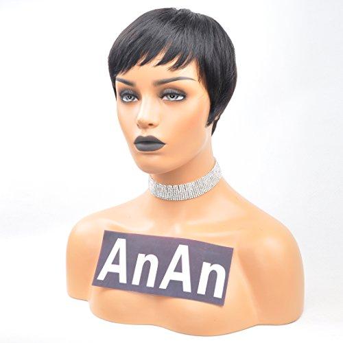 Yviann Pixie Cut Wigs Short Human Hair Wigs