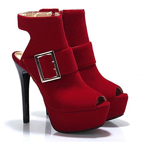 1TO9 Girls Metalornament Solid Polyurethane Sandals Red mzXLhuxiV6