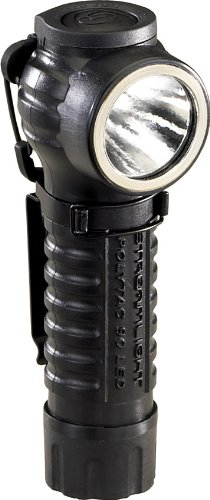 Streamlight 88830 PolyTac 90 LED Right Angle Polymer Flashlight, Black - 170 Lumens