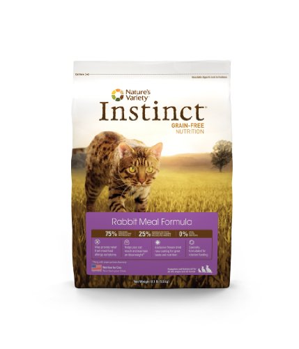 Instinct Grain-Free Rabbit Meal Dry Cat Food by Nature's Variety, 12.1-Pound Package, My Pet Supplies