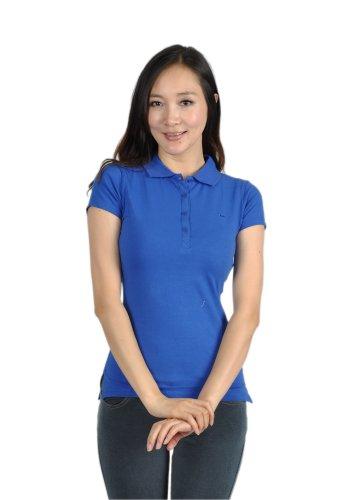 Soho Apparel Junior Solid Short Sleeve Polo T-Shirt CST-116-Royal Blue-S