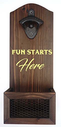 - Personalized Bottle Opener | Custom Engraved Wall Mount Bottle Opener | Groomsmen Gift