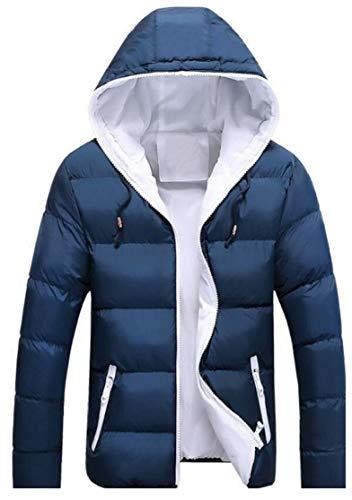Inverno 3 Contrasto Corto Cappotto Giacca Cappuccio Morbido Degli Uomini Caldo Ttyllmao Tasche Con qnUtagg6