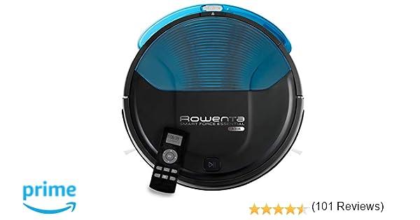 Rowenta Smart Force Essential Aqua RR6971WH - Robot aspirador 2 en 1, aspira y friega, con sensores anticaída, bateria ión-litio de 150 minutos de autonomía ...