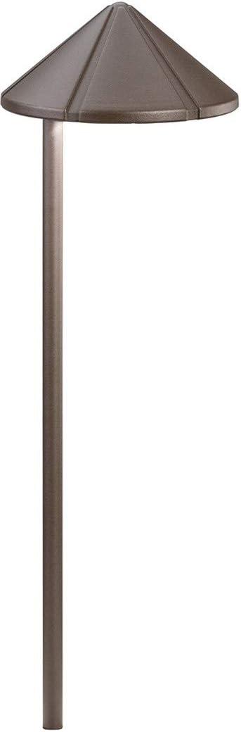 Kichler 15315AZT Six Groove Path & Spread 1-Light 12V, Textured Architectural Bronze