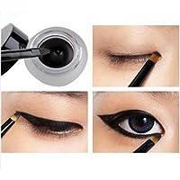 Neue wasserdichte Eye Liner Eyeliner Schatten Gel-Verfassungs-Kosmetik Pinsel Schwarz by keepingup