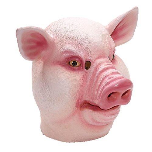 Forum Novelties 71350 Mask-Pig-Latex, Standard, Pink