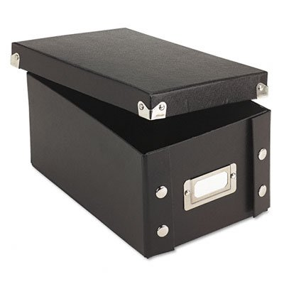IdeaStream Snap 'N Store Collapsible Index Card File Box Holds 1100 4 x 6 Cards, Black (Box Ideastream File Collapsible)