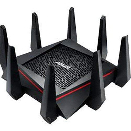 ASUS AC5300 Tri-Band WiFi Gaming Router(Up to 5330 Mbps) w/MU-MIMO, Supporting AiProtection Network Security Trend Micro, AiMesh Mesh WiFi System, Built-in WTFast Game Accelerator (RT-AC5300)