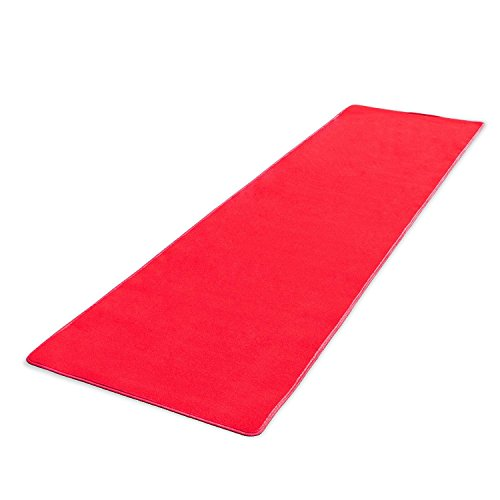 Source One Premium Red Carpet Aisle Runner, Multiple Sizes Available, Perfect for Weddings, Parties and Special Occasions (4 Feet x 10 Feet, Red) (Wedding Red Carpet)