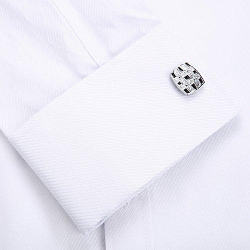 a65857193bb Alimens   Gentle French Cuff Regular Fit Dress Shirts (Cufflink Included)  best
