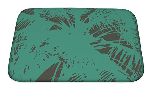Gear New No Slip Microfiber Memory Foam Pattern From The Leaves of Tropical Trees & Palms Bath Rug Mat, 24